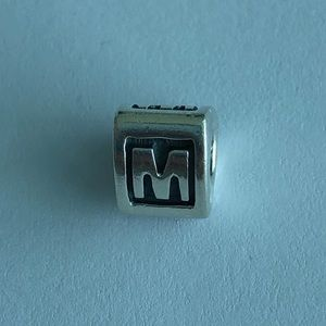 Authentic Pandora Sterling Silver Letter M Charm